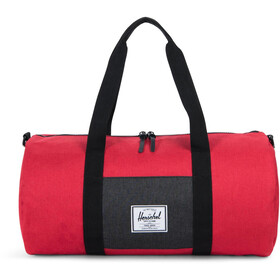 Herschel Sutton Mid-Volume Duffle Barbados Cherry Crosshatch/Black Crosshatch